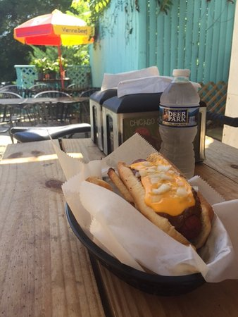 Leesburg, VA: Polish Dog with Chili Cheese topping