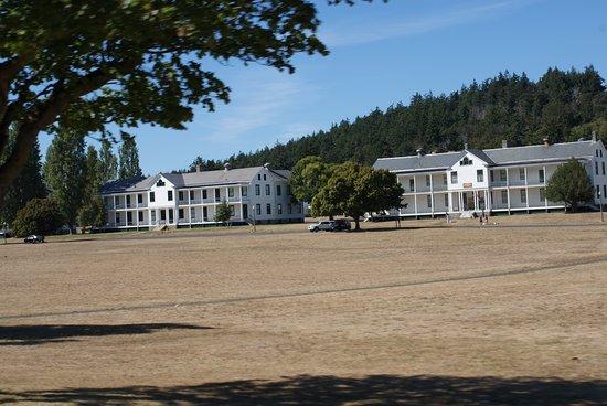 Fort Worden State Park: Barracks across the parade ground.