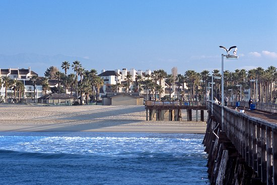 Ventura County Coast, CA: Port Hueneme Pier allows for a relaxing walk above the majestic waves.