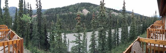 Denali Grizzly Bear Resort: Grizzly Bear view from our room of Nenana River