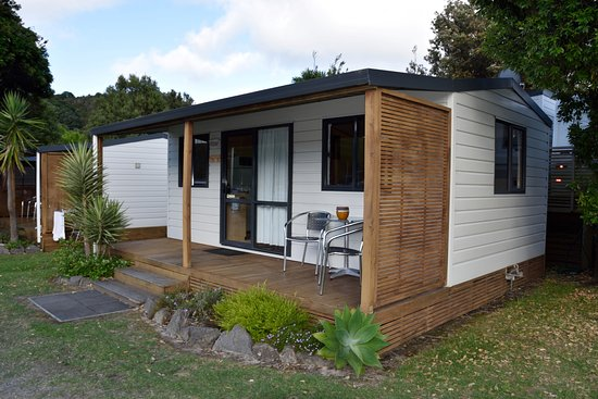 Waihi, Νέα Ζηλανδία: Kabine von aussen