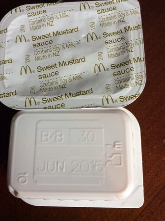 McDonald's Dannevirke are selling to customers, out of date sauces for nuggets.