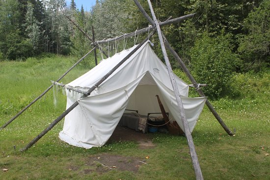 Prince George, Canada: Tent at Fishing camp at Huble