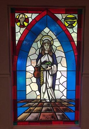 Prestonsburg, KY : Beautiful stained glass window of St. Martha