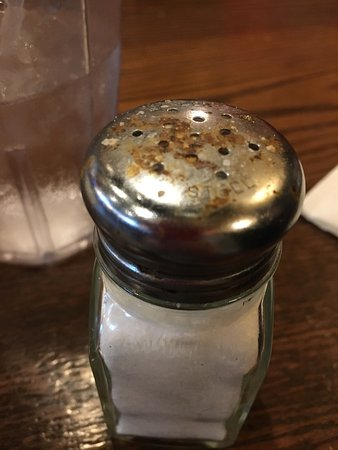 Tavern: Maybe clean the salt and pepper shakers at least occasionally.   Yuck.