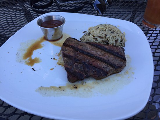 Spencer, IA: Sirloin steak with Wild Rice Pilaf