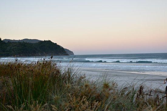 Waihi Beach, Nuova Zelanda: Blick von der Terrasse