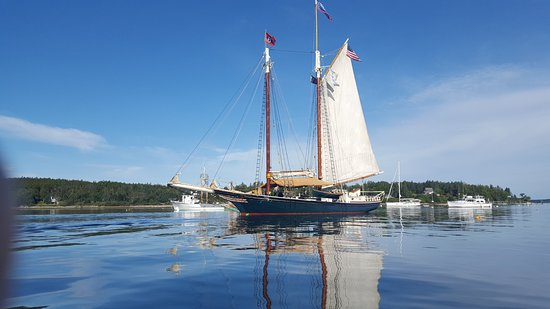 Rockland, ME: The Stephen Taber in the harbor at Port Clyde.