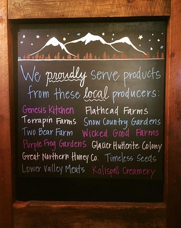 Whitefish, Μοντάνα: We proudly serve products from many local producers!