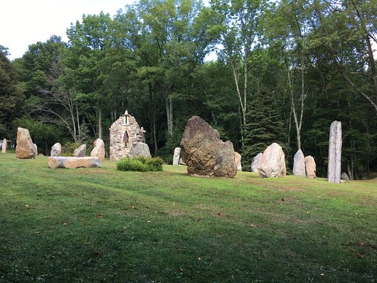 Columcille Megalith Park: some of the monoliths