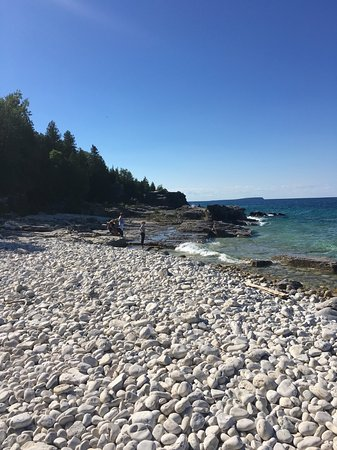 Bruce Peninsula National Park Beaches With White Rock Instead Of Sand