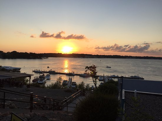 Bracco Okoboji: Patio Sunset