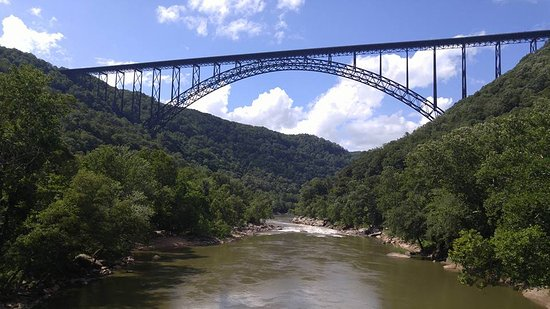 Lansing, WV: Admiring the New River Gorge Bridge from the river access.