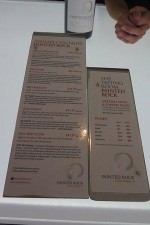 Penticton, Canadá: Wine list