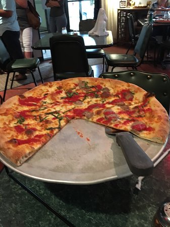 Sun Prairie, WI: Salvatore's Tomato Pie 1/2 Cheese 1/2 Sausage
