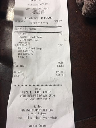 Frisco, TX: Went for the budget meal Wednesday night $1.99 and the order was completely wrong . No gravy , n