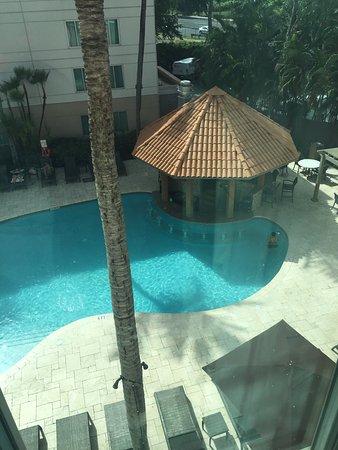 Hampton Inn & Suites San Juan: View from my room on 3rd floor