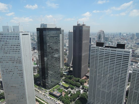Hyatt Regency Tokyo : View of Shinjuku from top of Government Building (next to hotel)