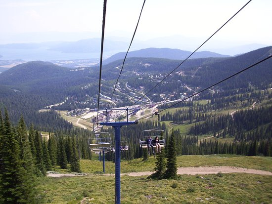 Sandpoint, ID: Chair lift to top