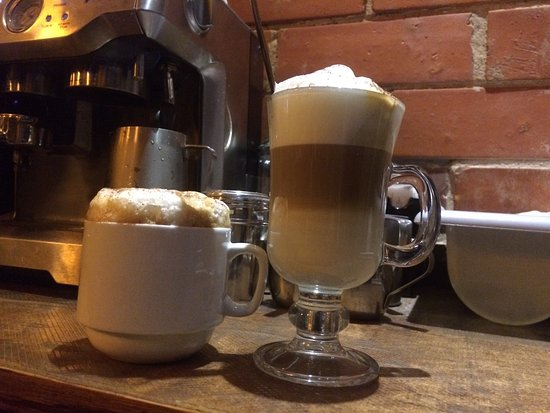 Cappuccino and latte at Elite Steak & Seafood
