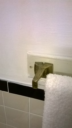 Cornwall, NY: towel rod in bathroom