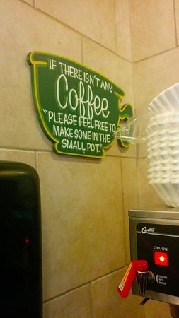 The Green Tortoise Hostel: Corner of the self-serve kitchen where you can get your java fix.