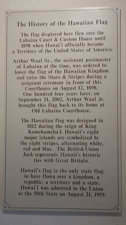 Old Lahaina Courthouse: Hawaiian Flag History