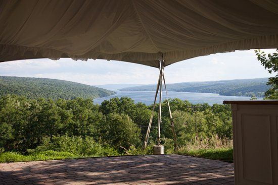 Bluff Point, État de New York : View from the tent