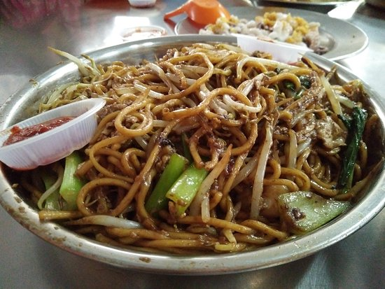 Butterworth, Maleisië: fried mee (yellow noodles)