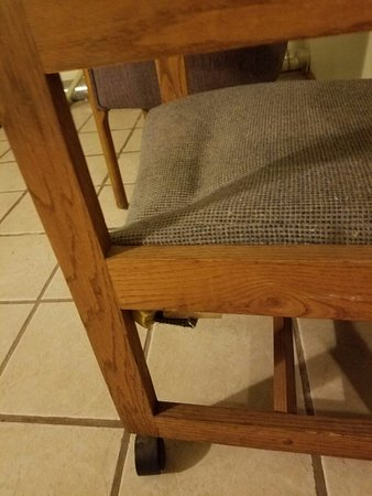 Snooz Inn Wilsonville: Broken dirty chair