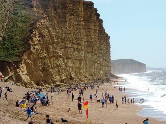 Dorset, UK: beach at west bay near bridport