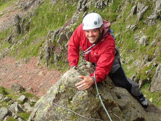Brough, UK: Rock climbing in the Lake District