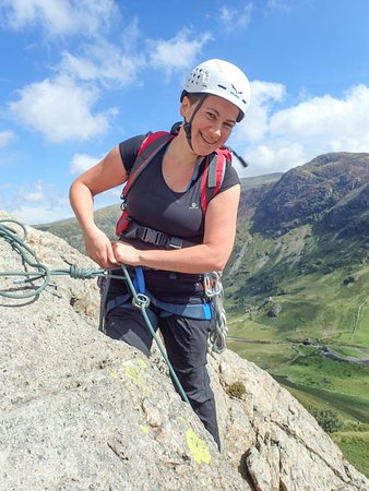 Brough, UK: Learning good belay technique