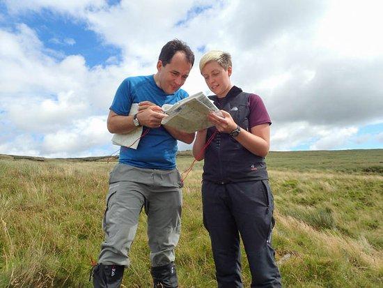 Brough, UK: Navigation on Nine Standards Rigg