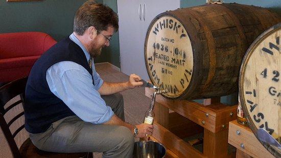 Burnie, Australia: Filling my own bottle to take home.