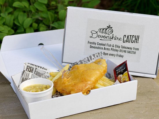 Pilsley, UK: Take away 'Fish & Chip Friday'