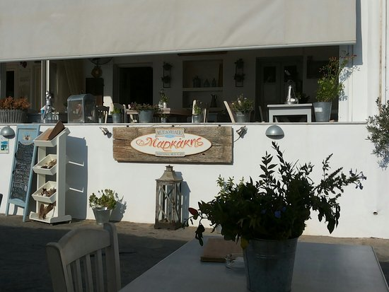 Piso Livadi, Grecia: Πικαντικη γαριδομακαροναδα& κεφτέδακια & κολοκυθοκεφτεδες