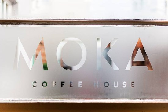 Moka Coffee House: The window in the back parlour of the cafe.