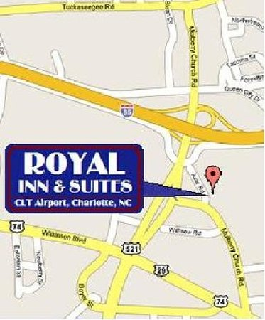 Royal Inn Charlotte Airport Hotel: Map