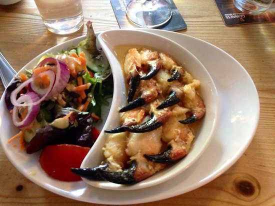 Kilcolgan, İrlanda: Crab claws!