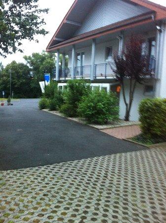 เมลซุงเกน, เยอรมนี: Hotellet set fra parkeringspladsen
