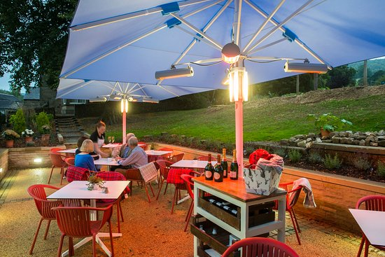 The Devonshire Arms At Beeley   Restaurant: Our Heated Patio Dining Area