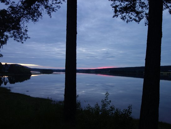 ยูสดาล, สวีเดน: Uitzicht vanaf de camping