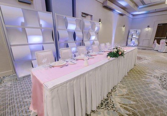 Nashua, NH: The Event Center - Wedding Party Setup