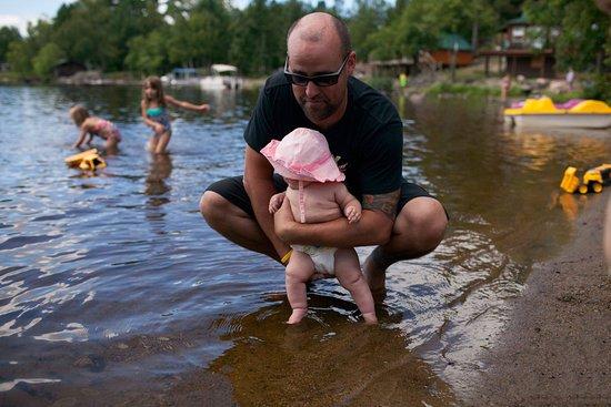 Ely, Μινεσότα: Sawyer's first dip in White Iron.