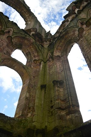 Fountains Abbey and Studley Royal Water Garden: arched windows