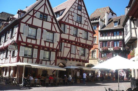 la belle terrasse du restaurant Le Fer Rouge - Picture of Le Fer ...
