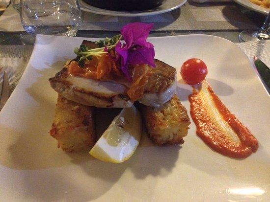 """Restaurant Morganti: il piatto """"meno"""" entusiasmante pesce spada su crostini di riso"""