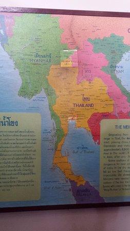 Chiang Saen, Thailand: Mapa del triangulo de Oro y del opio