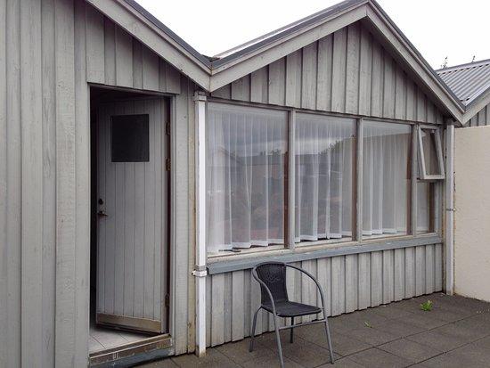 Fludir, Iceland: Eingang zu Bad und Zimmer
